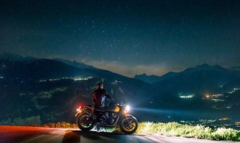 バイク 夜景